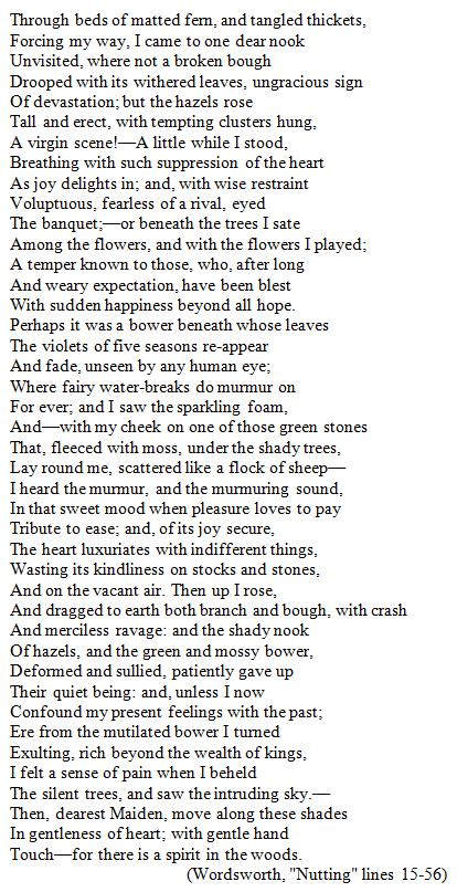 nutting poem pdf